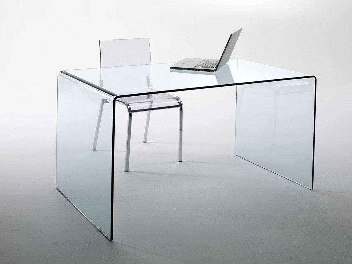 chandra glas schreibtisch echtglas 120x60x75cm glastisch bürotisch