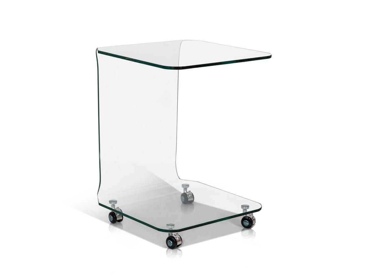 beistelltisch aus glas konsolentisch peppe konsole glastisch tisch mit rollen ebay. Black Bedroom Furniture Sets. Home Design Ideas