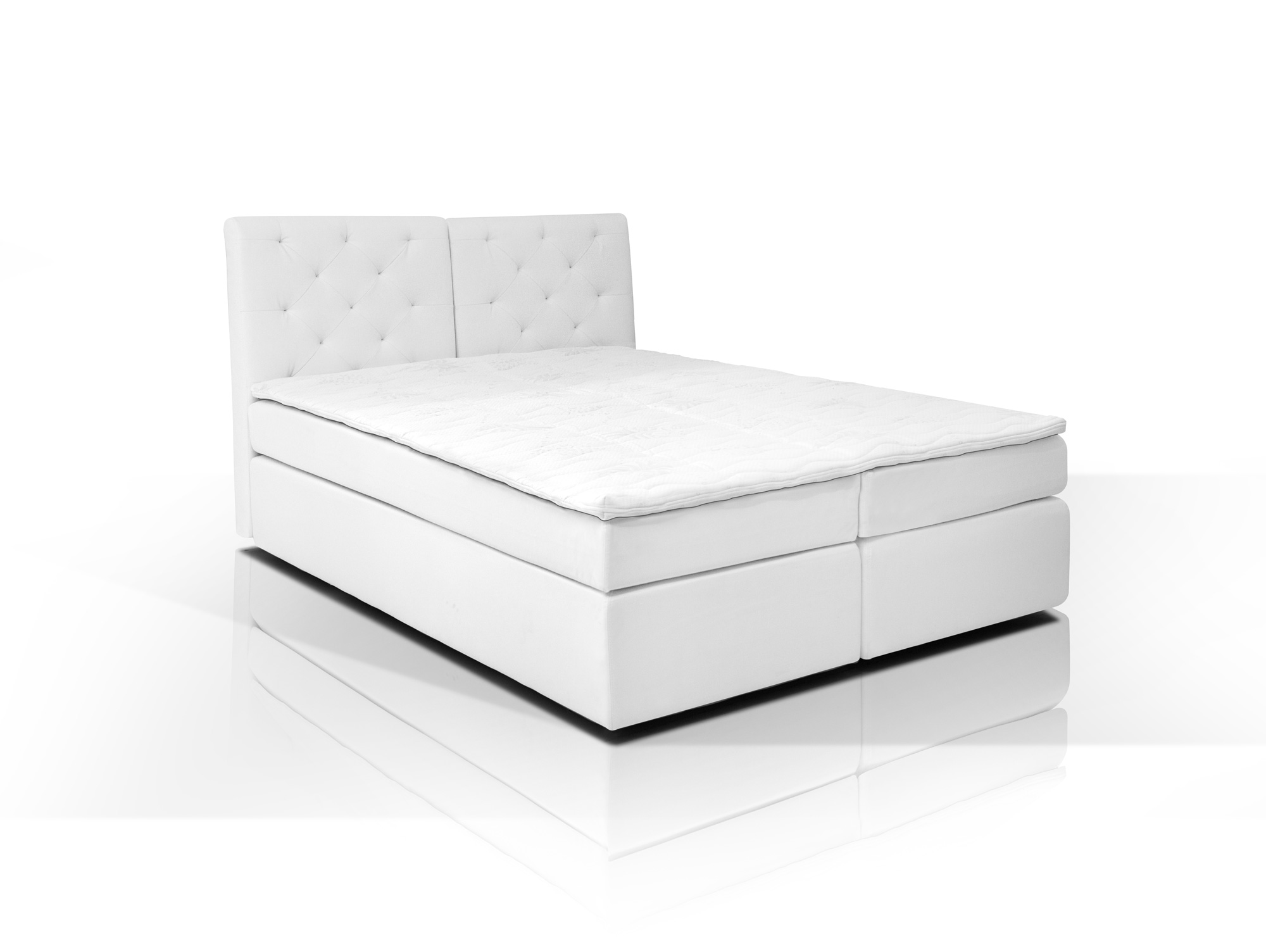 boxspringbett mit schmutzabweisendem bezug wei h3 160x200 doppelbett 7 zonen ebay. Black Bedroom Furniture Sets. Home Design Ideas