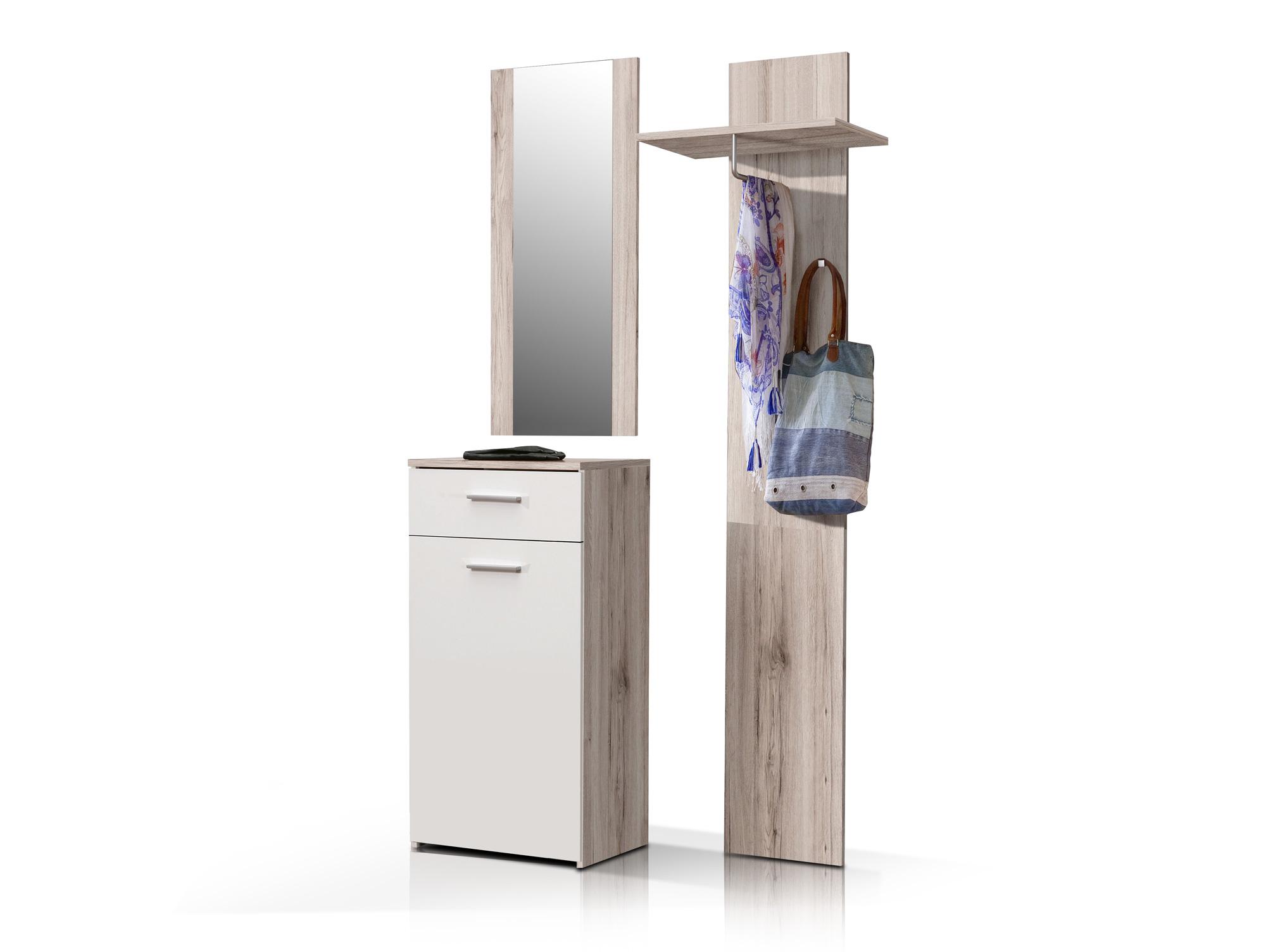 greta kompaktgarderobe garderobe mit spiegel schuhschrank