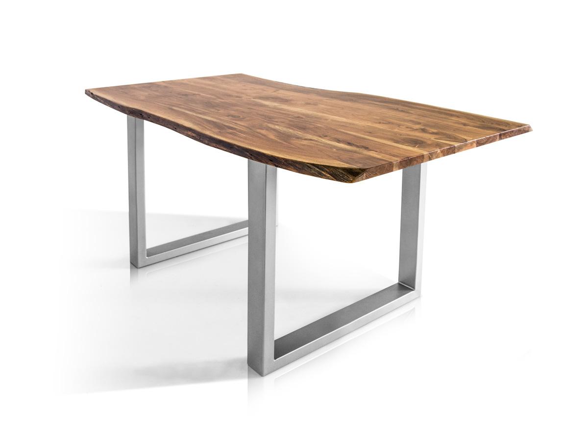 Tischplatte massivholz baumkante  Massivholz Tisch mit Baumkante Esstisch Athen Akazie 160x90 180x90 ...