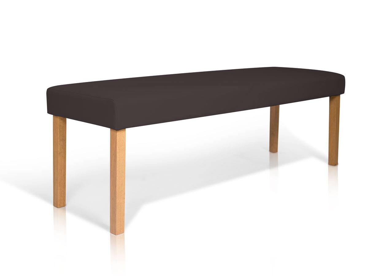 bill bank sitzbank polsterbank b nke 140 cm kunstleder braun beine buche massiv ebay. Black Bedroom Furniture Sets. Home Design Ideas