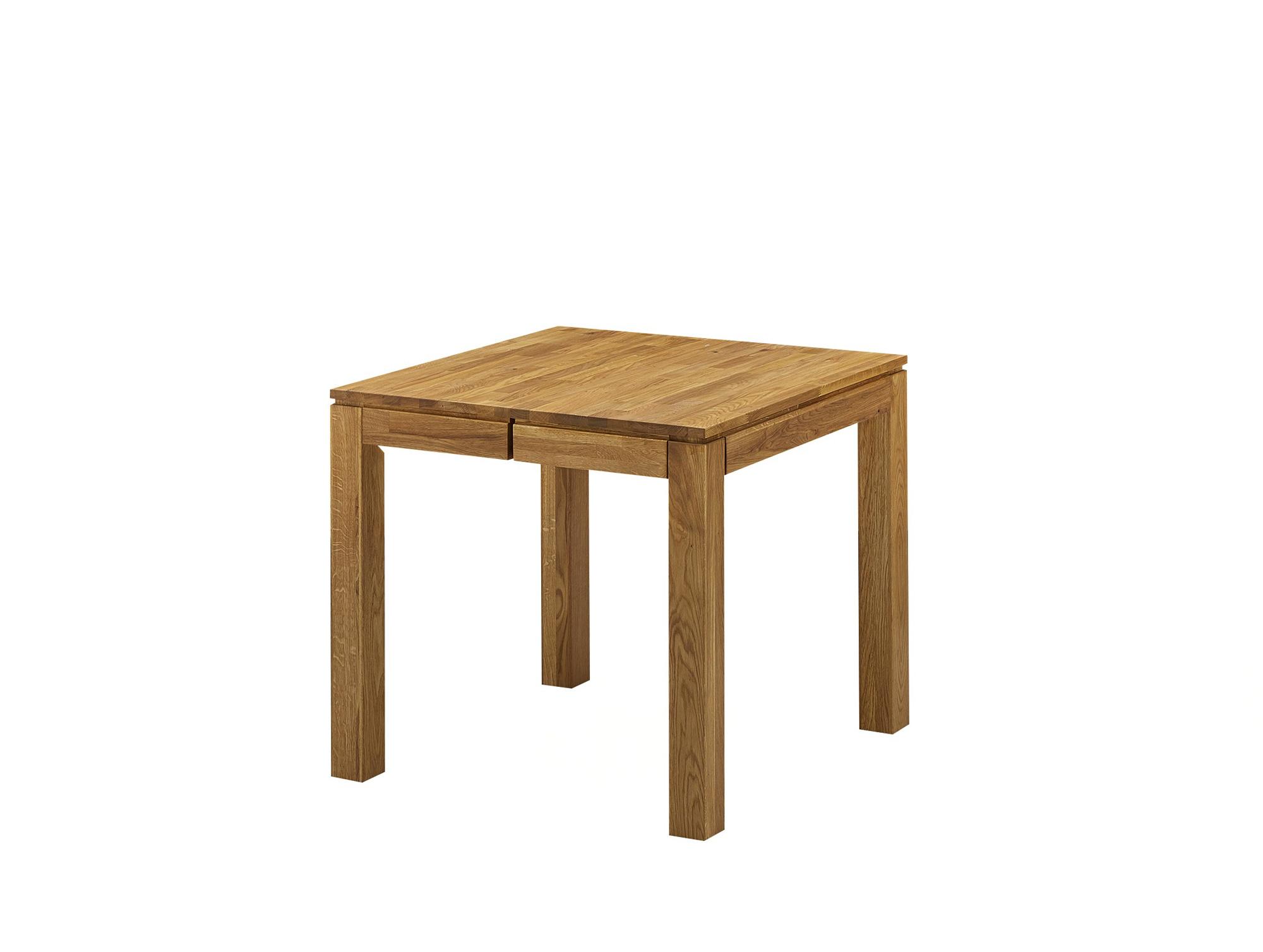 lissabon tisch wildeiche esstisch massivholztisch 80x80 bis 130x80 ausziehbar ebay. Black Bedroom Furniture Sets. Home Design Ideas