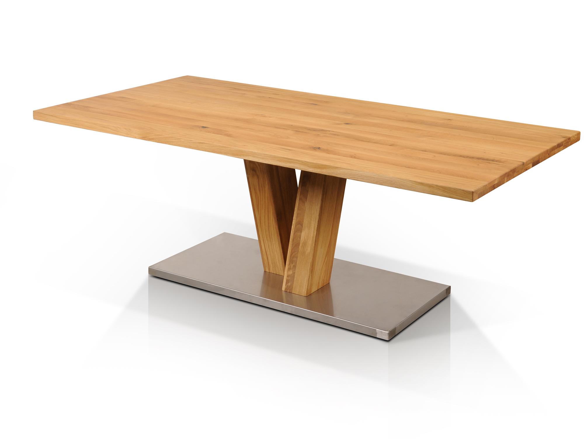 Esstisch Massivholztisch 160x90 cm NAPOLEON Tisch Säulentisch ...