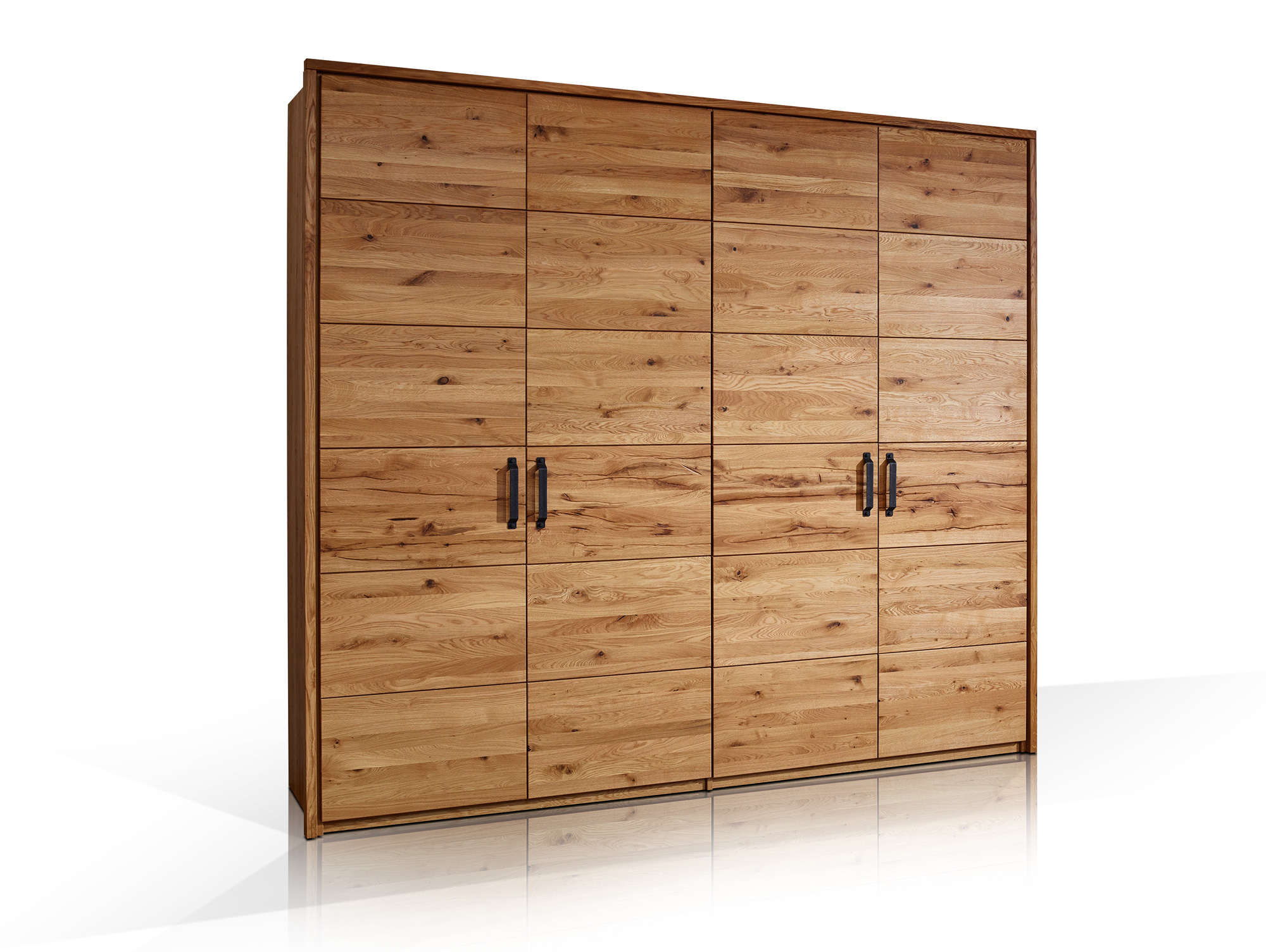 salvador 4 t riger dreht renschrank 240 cm kleiderschrank wildeiche mit rahmen ebay. Black Bedroom Furniture Sets. Home Design Ideas