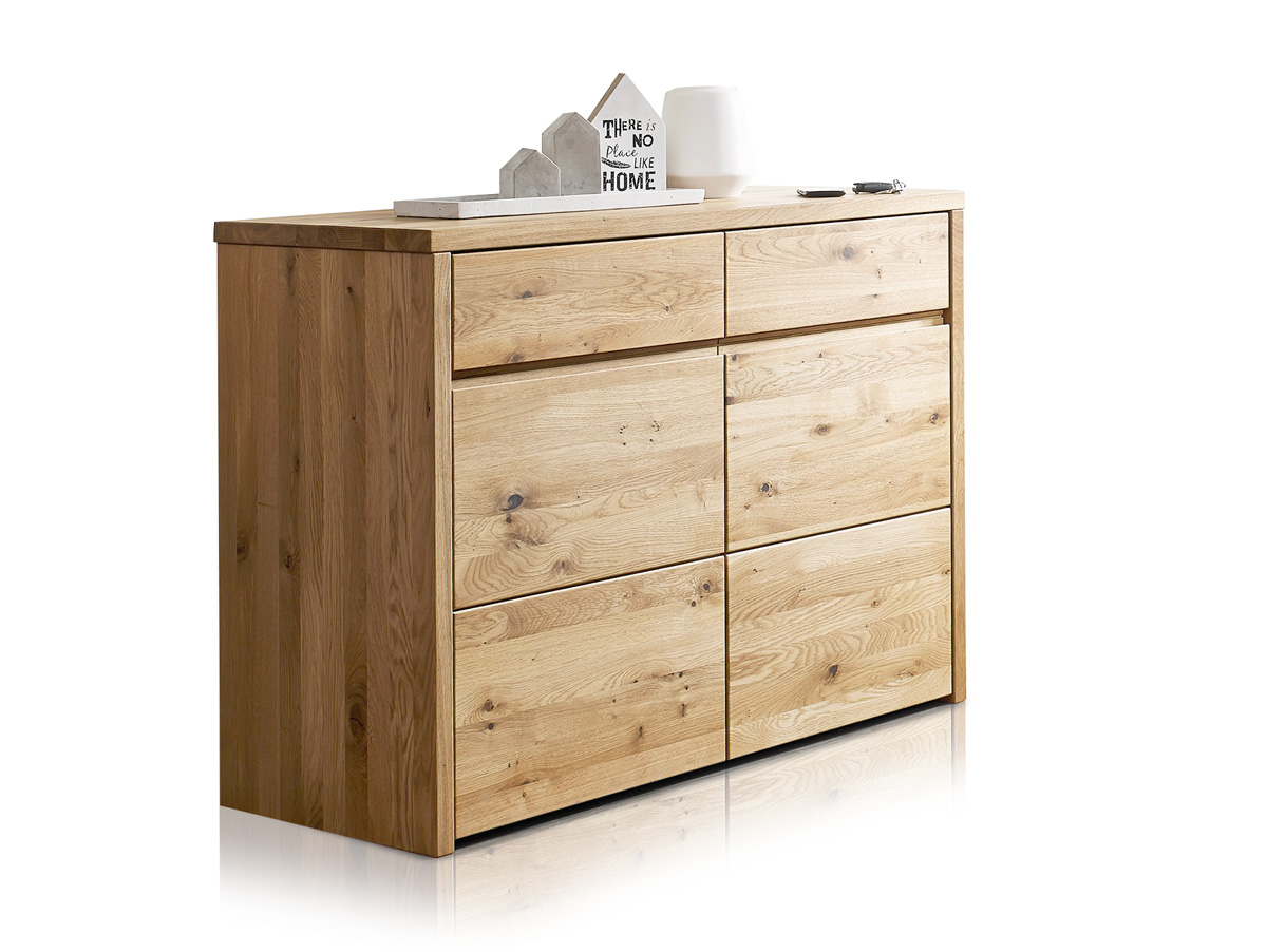 stean ii kommode sideboard massivholz wildeiche massiv ge lt schubladenkommode ebay. Black Bedroom Furniture Sets. Home Design Ideas
