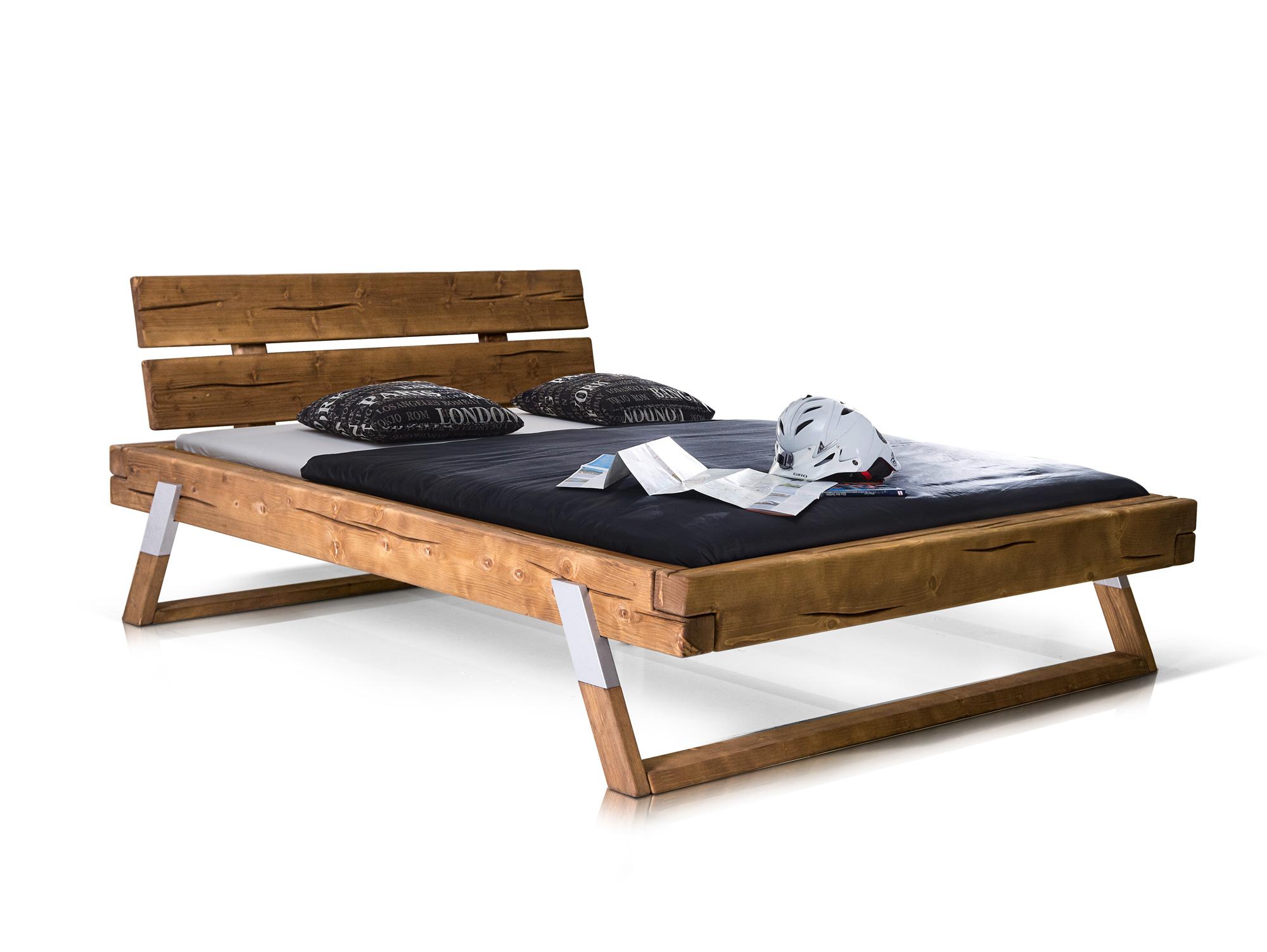 Balkenbett fichte  TYLER Doppelbett Bett Balkenbett 180x200 cm Holzbett Fichte ...