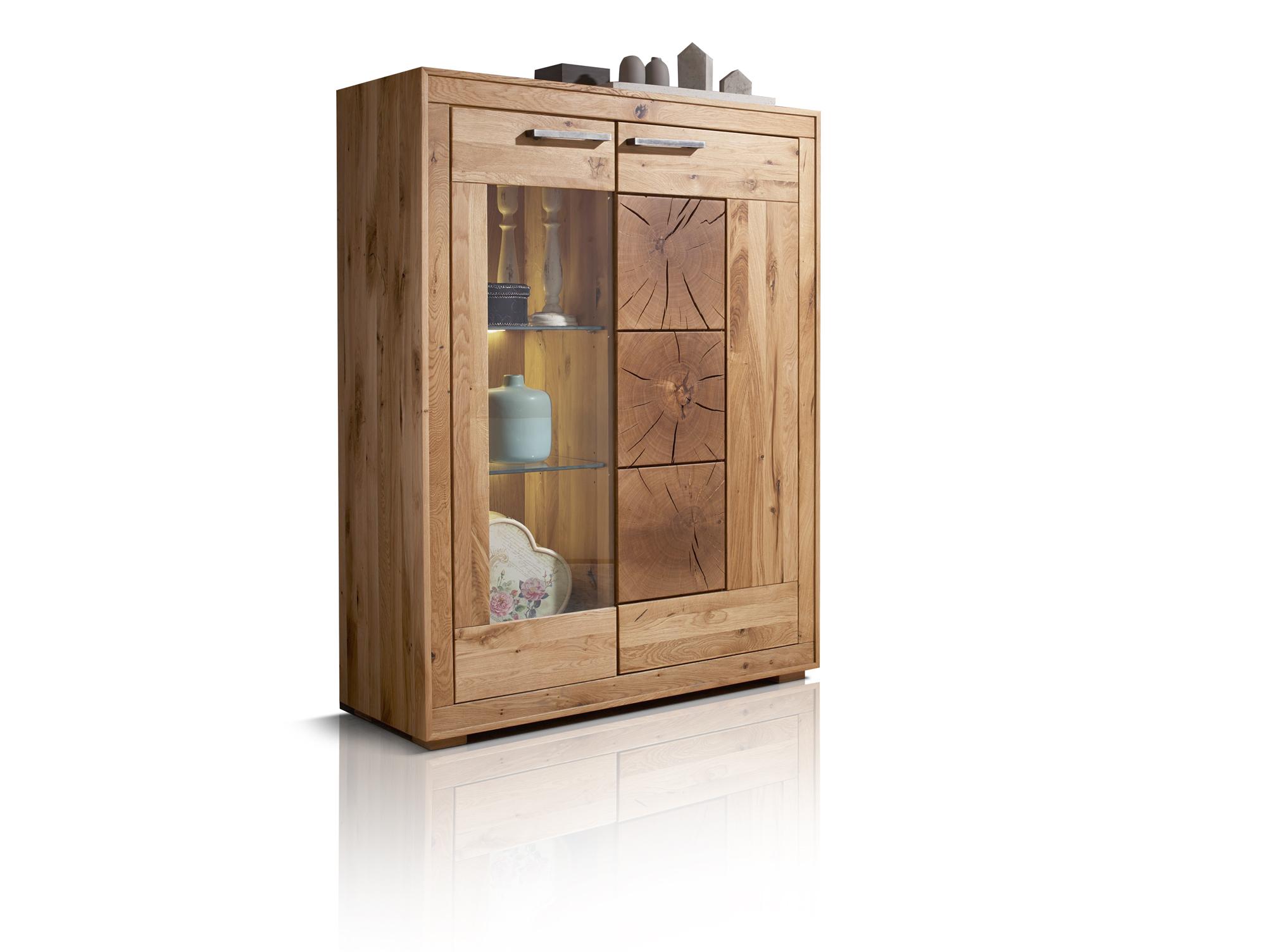 winston i massivholz highboard wildeiche ge lt kommode sideboard wohnzimmer ebay. Black Bedroom Furniture Sets. Home Design Ideas