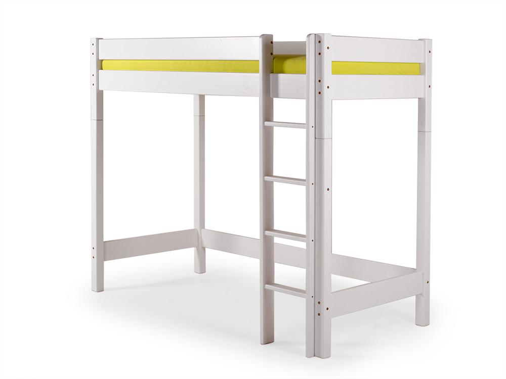 Etagenbett Weiß Metall : Yogi hochbett jugendbett kinderbett hohes bett kiefer weiß weiss
