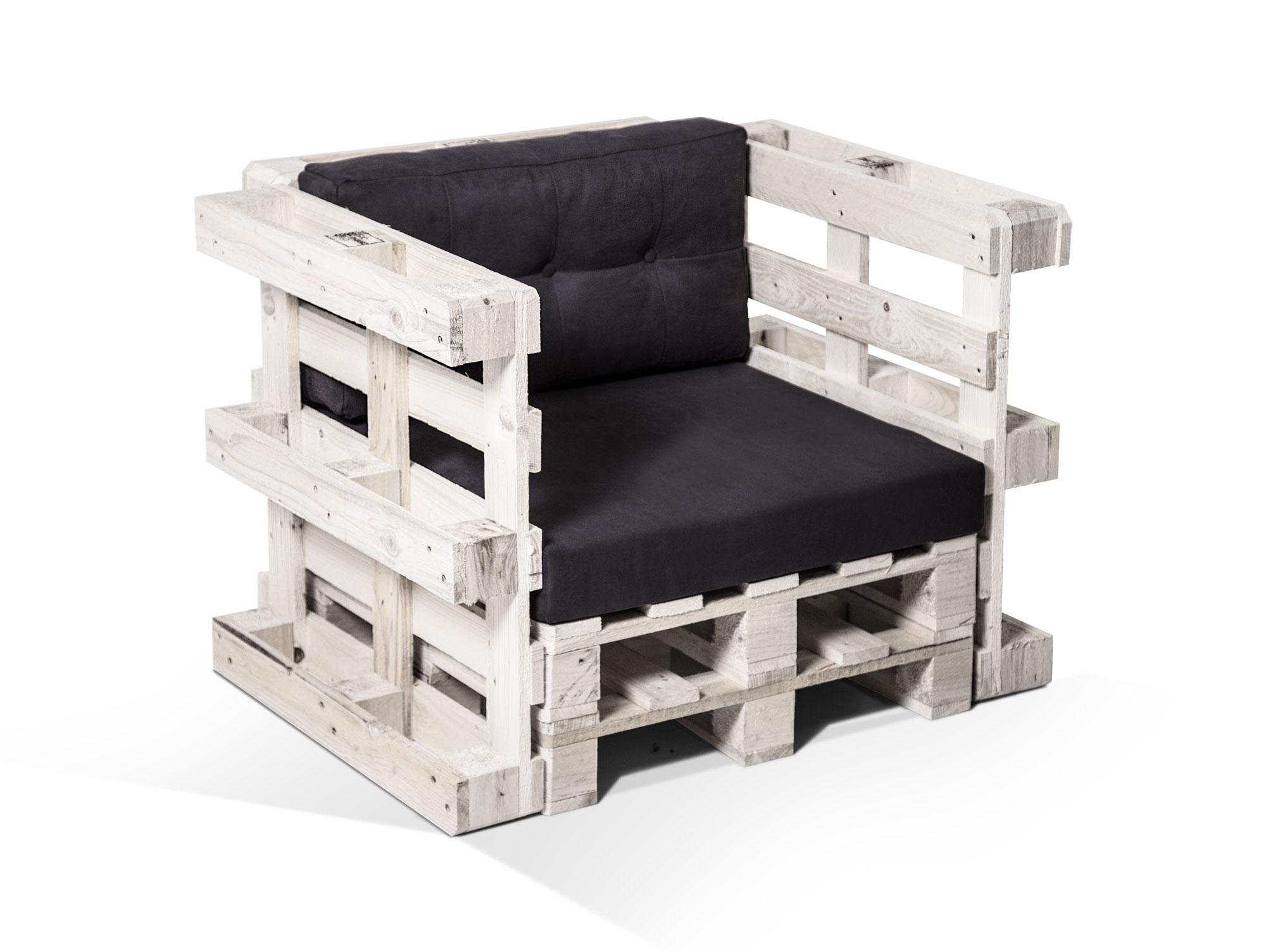 Paletti Sessel Inkl Auflagen Aus Paletten Palettensessel Fichte