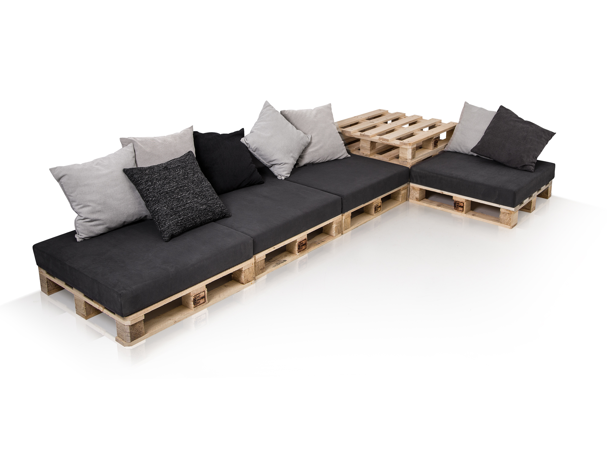 lounge ecksofa palettensofa paletten big sofa fichte natur inkl