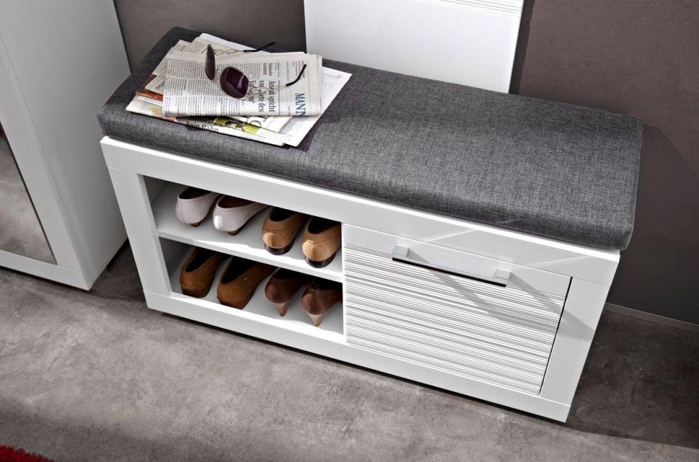 live sitzbank bank garderobenbank dielenbank 92x37x50 wei. Black Bedroom Furniture Sets. Home Design Ideas