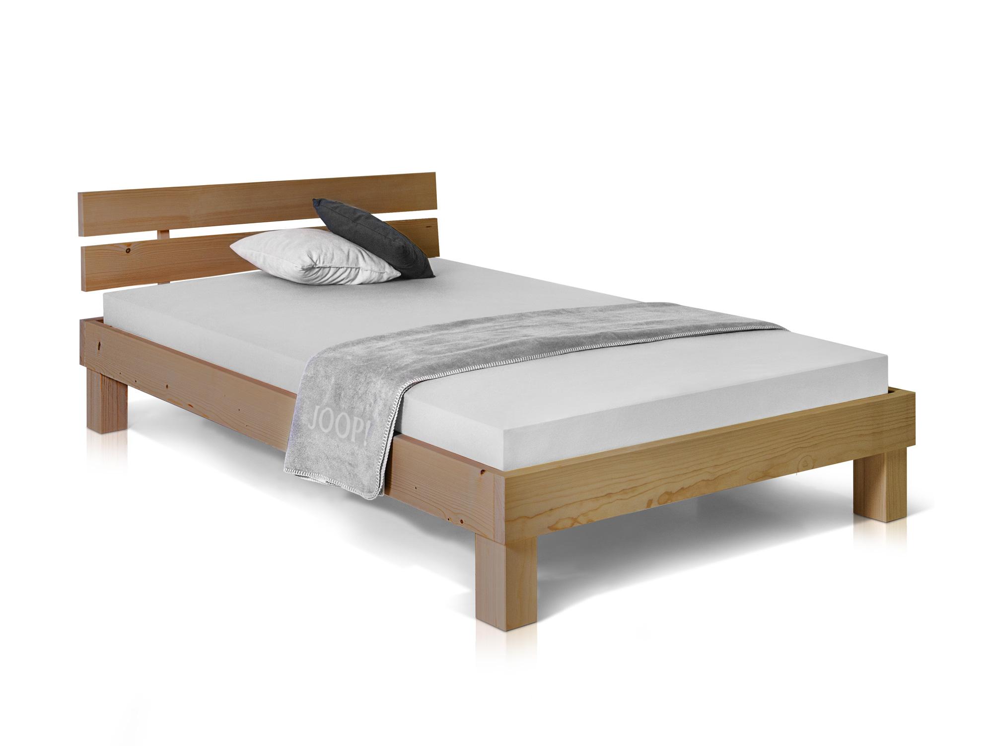 pumba singlebett bett futonbett 140x200 fichtemassiv eichefarbig massivholzbett ebay. Black Bedroom Furniture Sets. Home Design Ideas