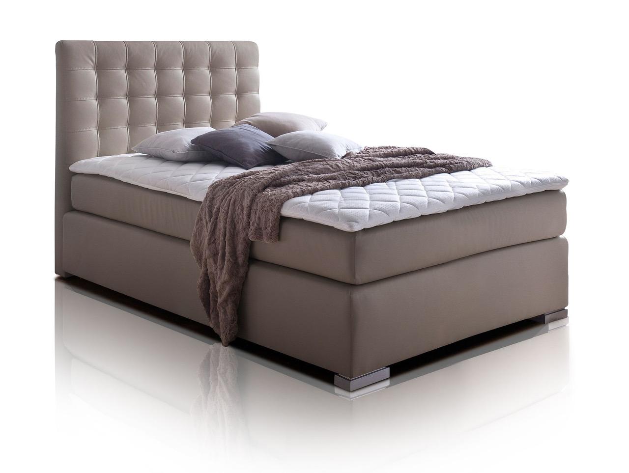 isabell boxspringbett singlebett boxspring bett hotelbett muddy 140x200 h2 ebay. Black Bedroom Furniture Sets. Home Design Ideas