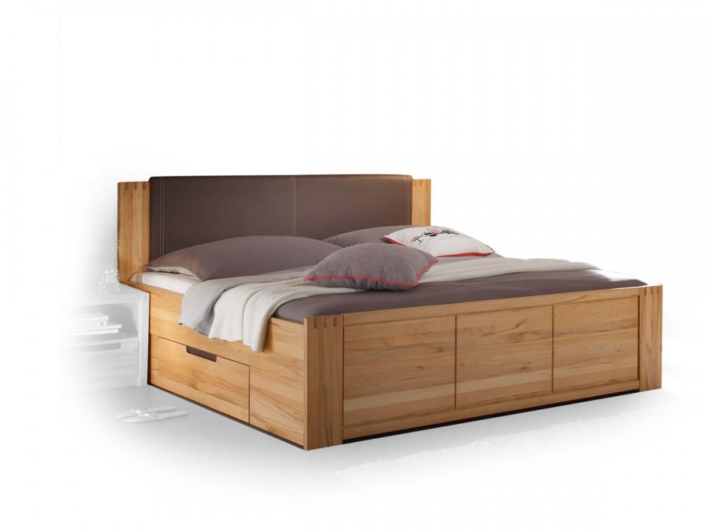 charles massivholzbett doppelbett bett ehebett holz kernbuche massiv 180x200 cm ebay. Black Bedroom Furniture Sets. Home Design Ideas