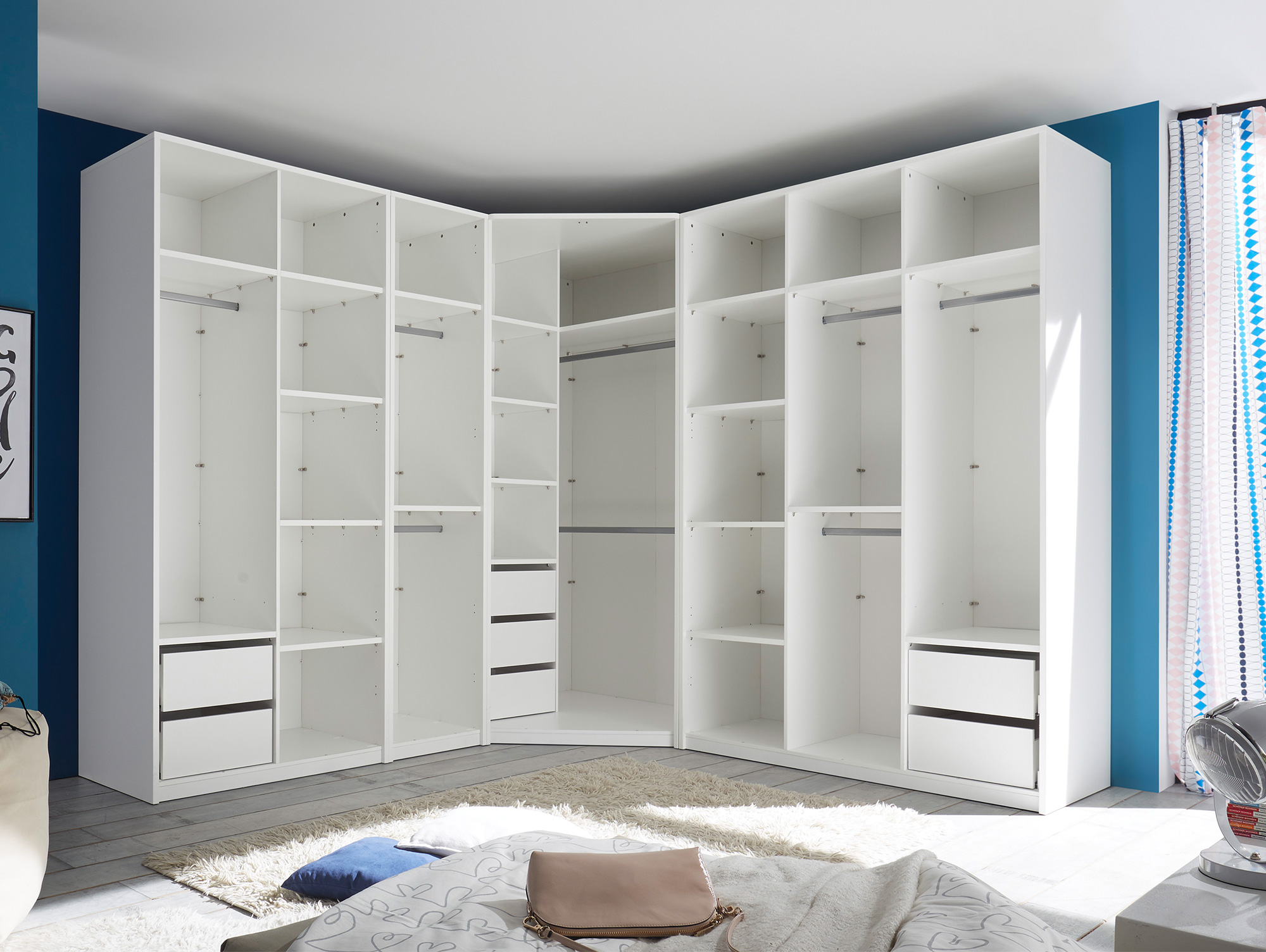 melbourne begehbarer kleiderschrank set ohne t ren. Black Bedroom Furniture Sets. Home Design Ideas