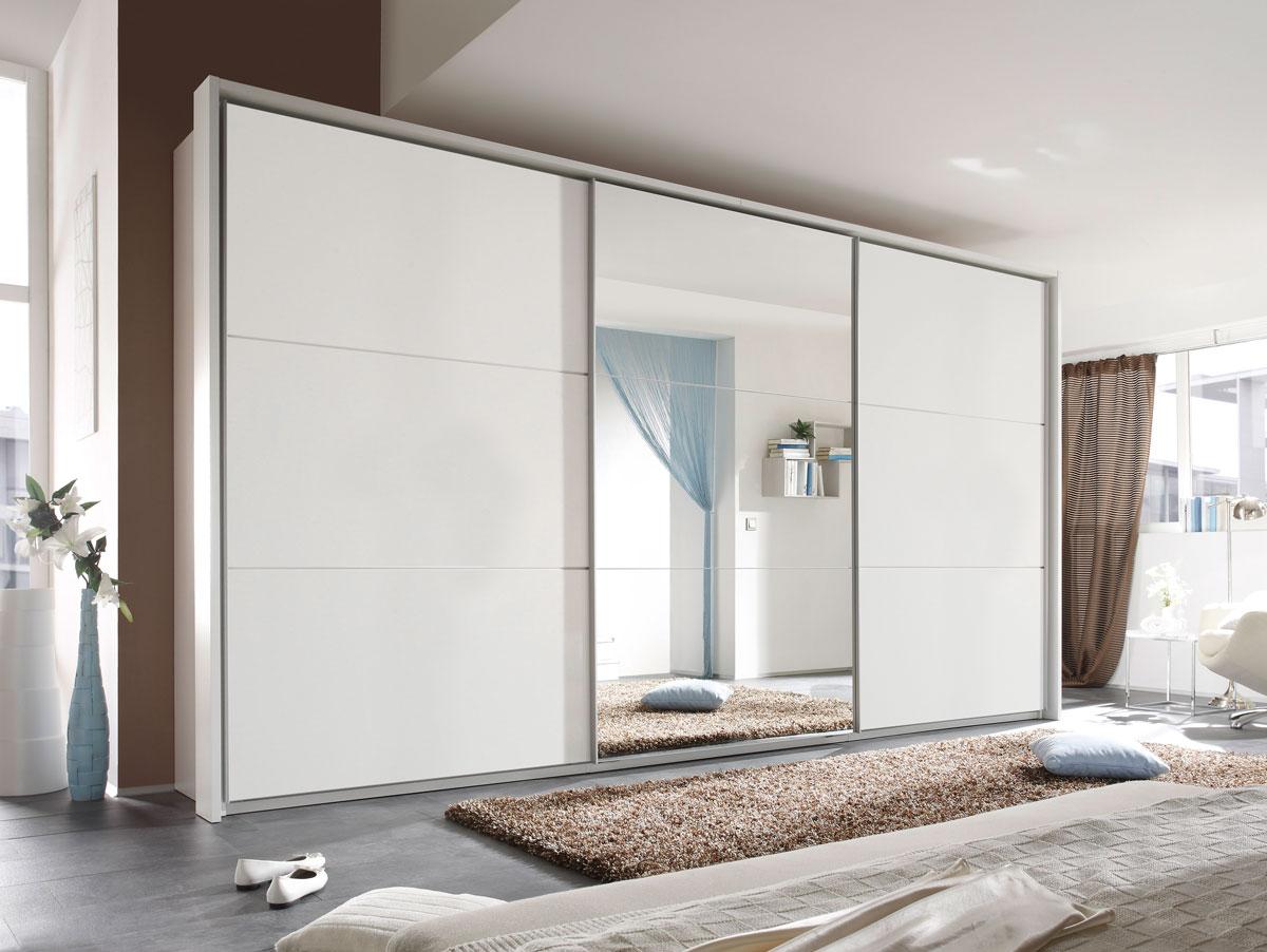 mimi 3 t riger schwebet renschrank kleiderschrank schrank 400 cm breit wei matt ebay. Black Bedroom Furniture Sets. Home Design Ideas