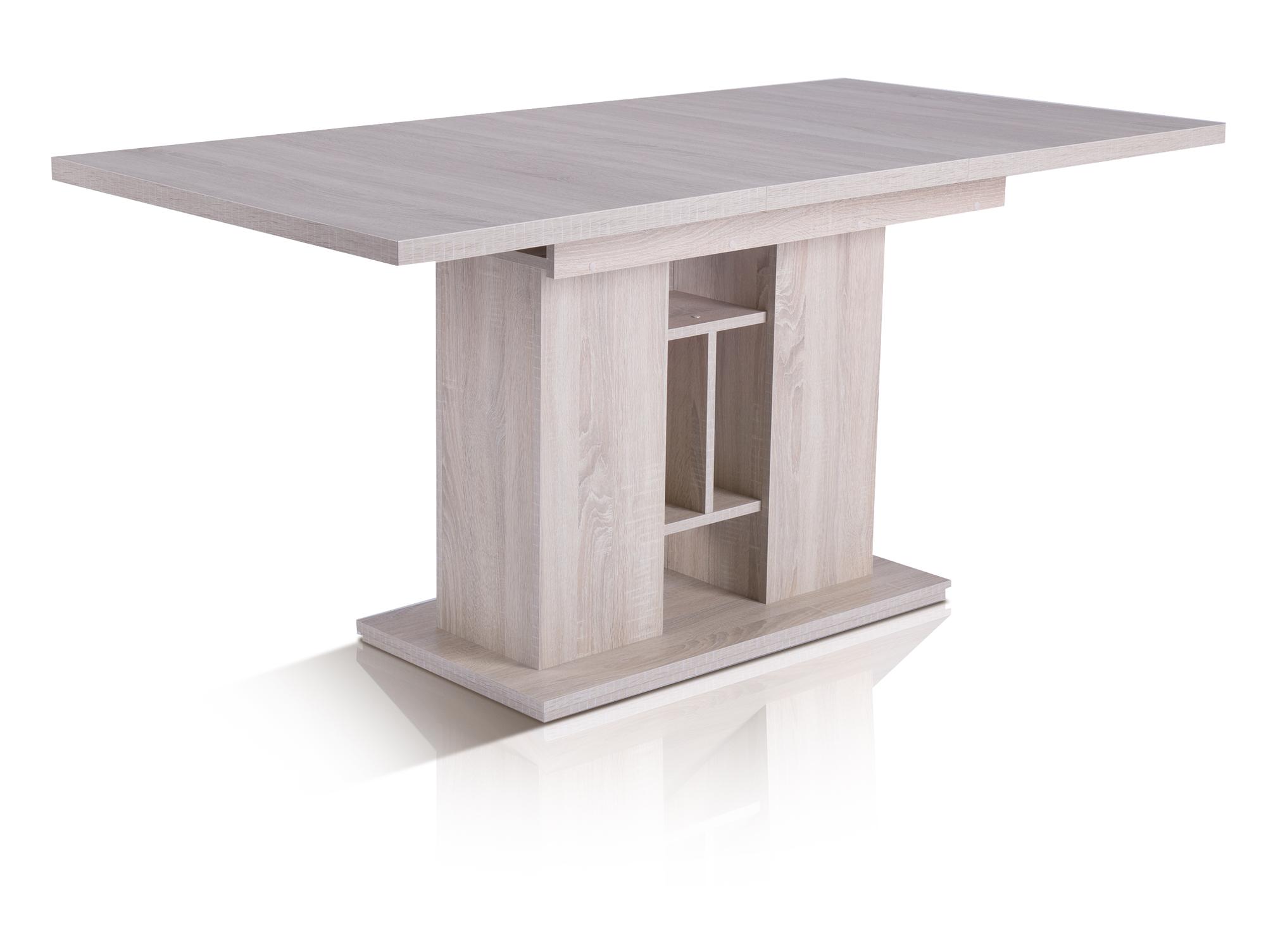 ISABEL Esstisch Tisch Esszimmer Dekor Eiche Sonoma 120x80 Ausziehbar Auf  160x80 | EBay