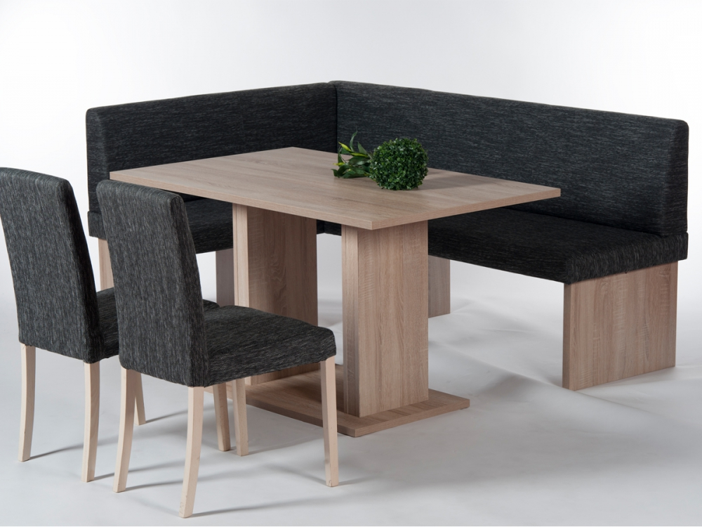 CARINA Eckbank Esstischgruppe Tisch + Bank + 2 Stühle ...
