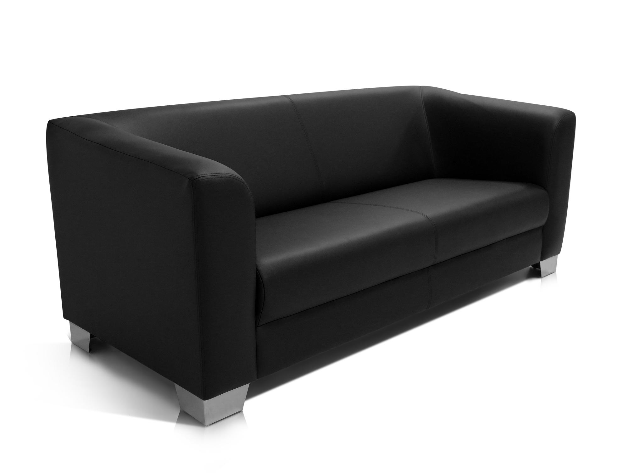 sofa couch 3 sitzer sofa lounge schwarz kunstleder chicago kunstledercouch ebay. Black Bedroom Furniture Sets. Home Design Ideas