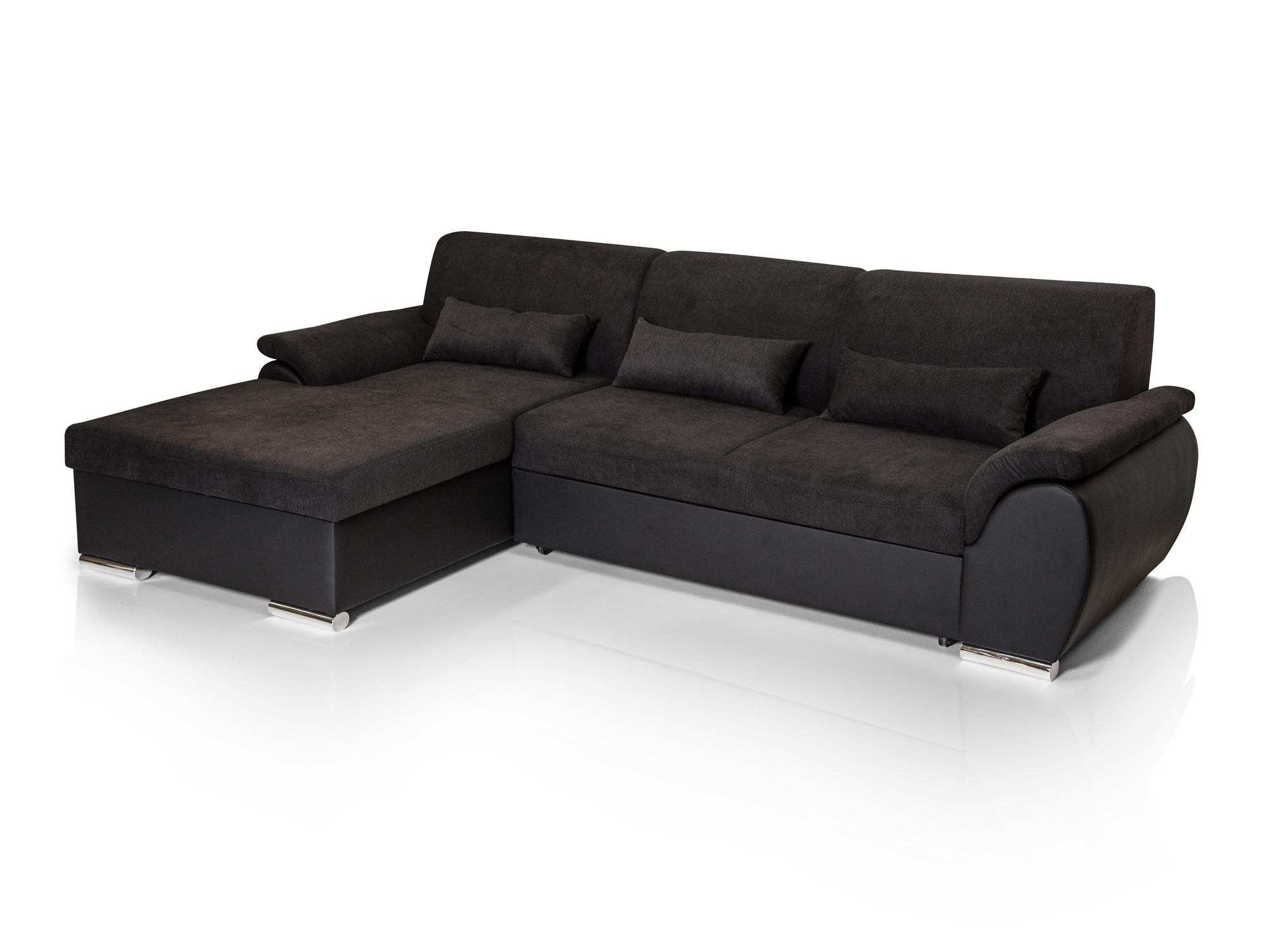 SALZBURG Ecksofa Eckcouch Couch Ottomane links + Bettfunktion ...