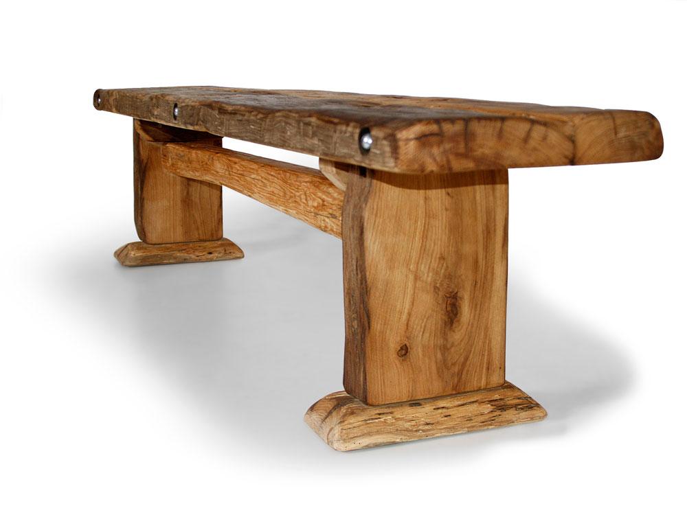 wikinger sitzbank ohne lehne massive bank holz holzbank. Black Bedroom Furniture Sets. Home Design Ideas