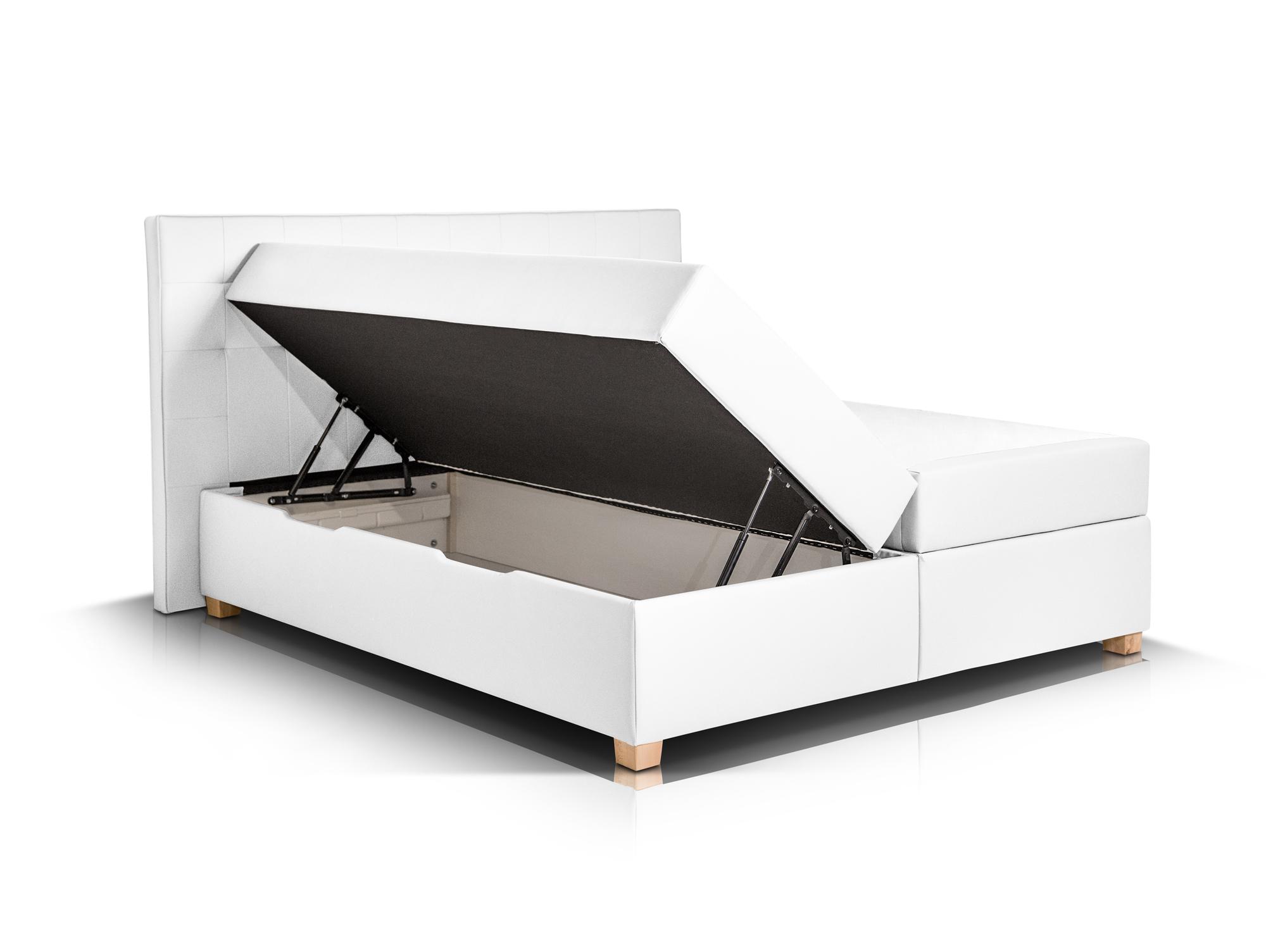 ida boxspringbett 200x200 doppelbett boxspring bett boxbett h3 wei bettkasten ebay. Black Bedroom Furniture Sets. Home Design Ideas