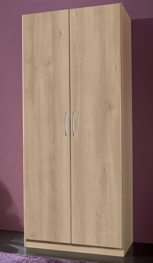 swen 2 t riger kleiderschrank schrank dekor buche b90 h198 t58 mit 2 schubladen ebay. Black Bedroom Furniture Sets. Home Design Ideas
