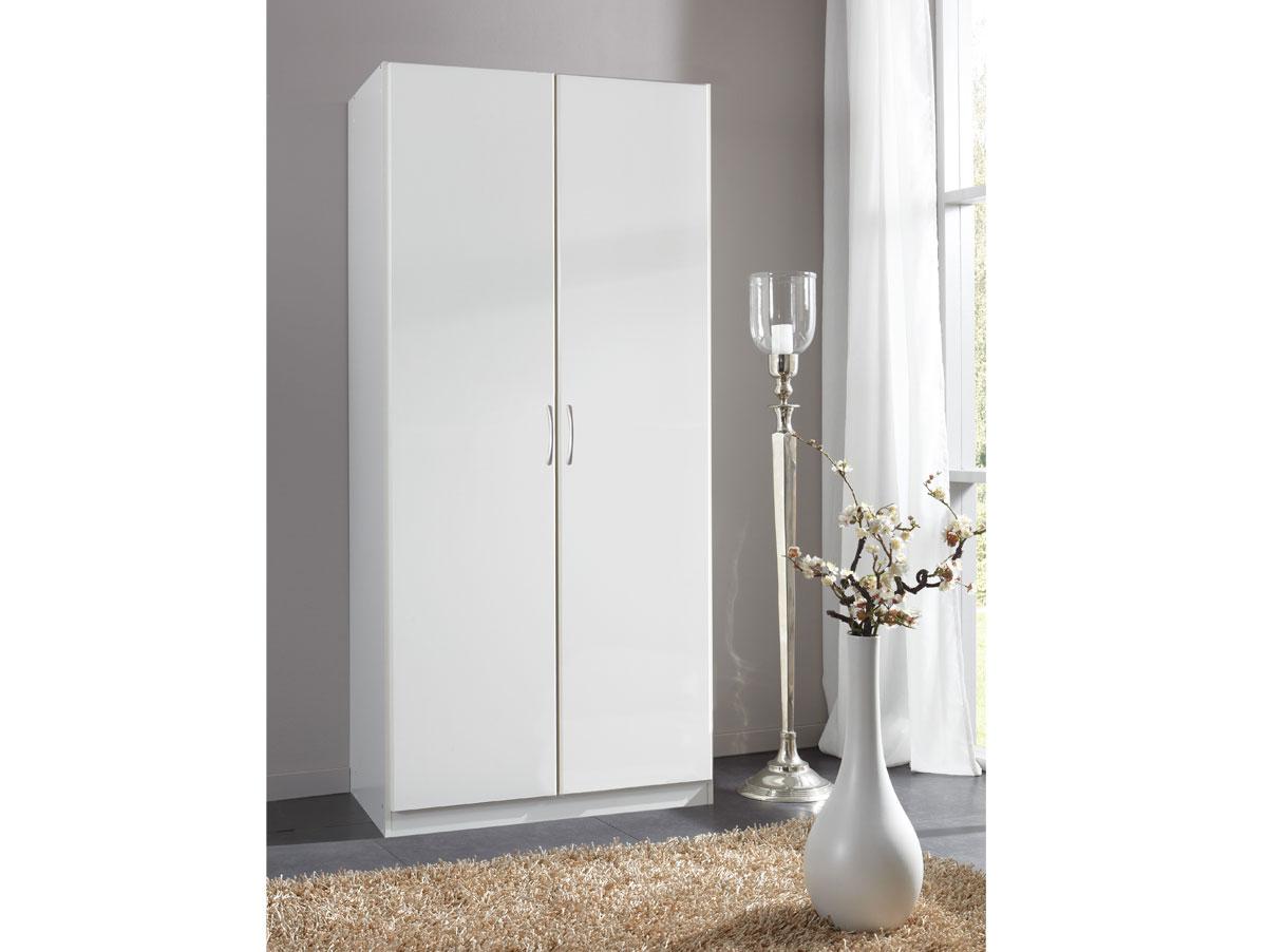 swen 2 t riger kleiderschrank schrank dekor wei alpinwei b90 h175 t58 cm ebay. Black Bedroom Furniture Sets. Home Design Ideas