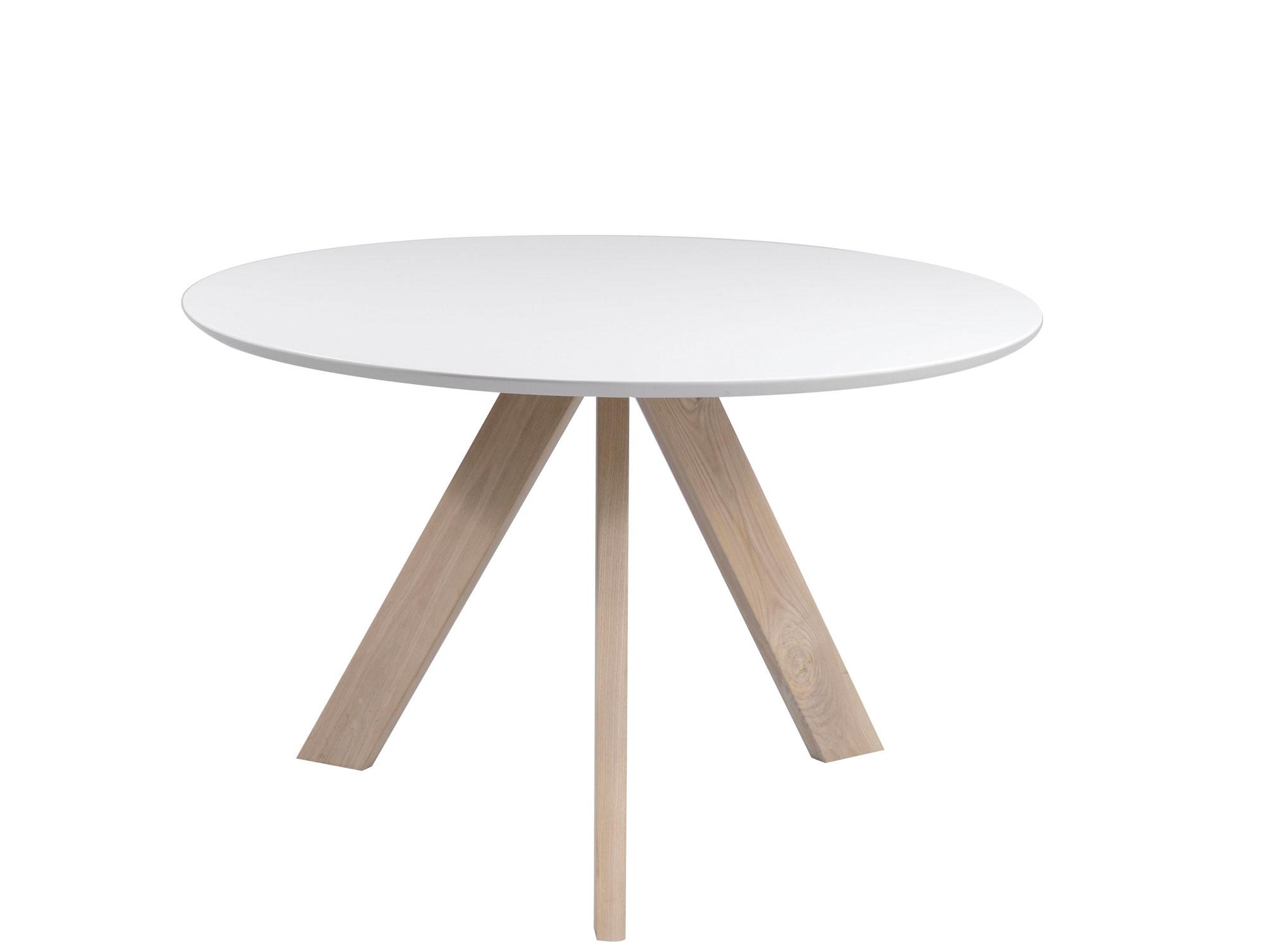 MILIAN Esstisch Retro Esszimmertisch Tisch Weiß Weiss